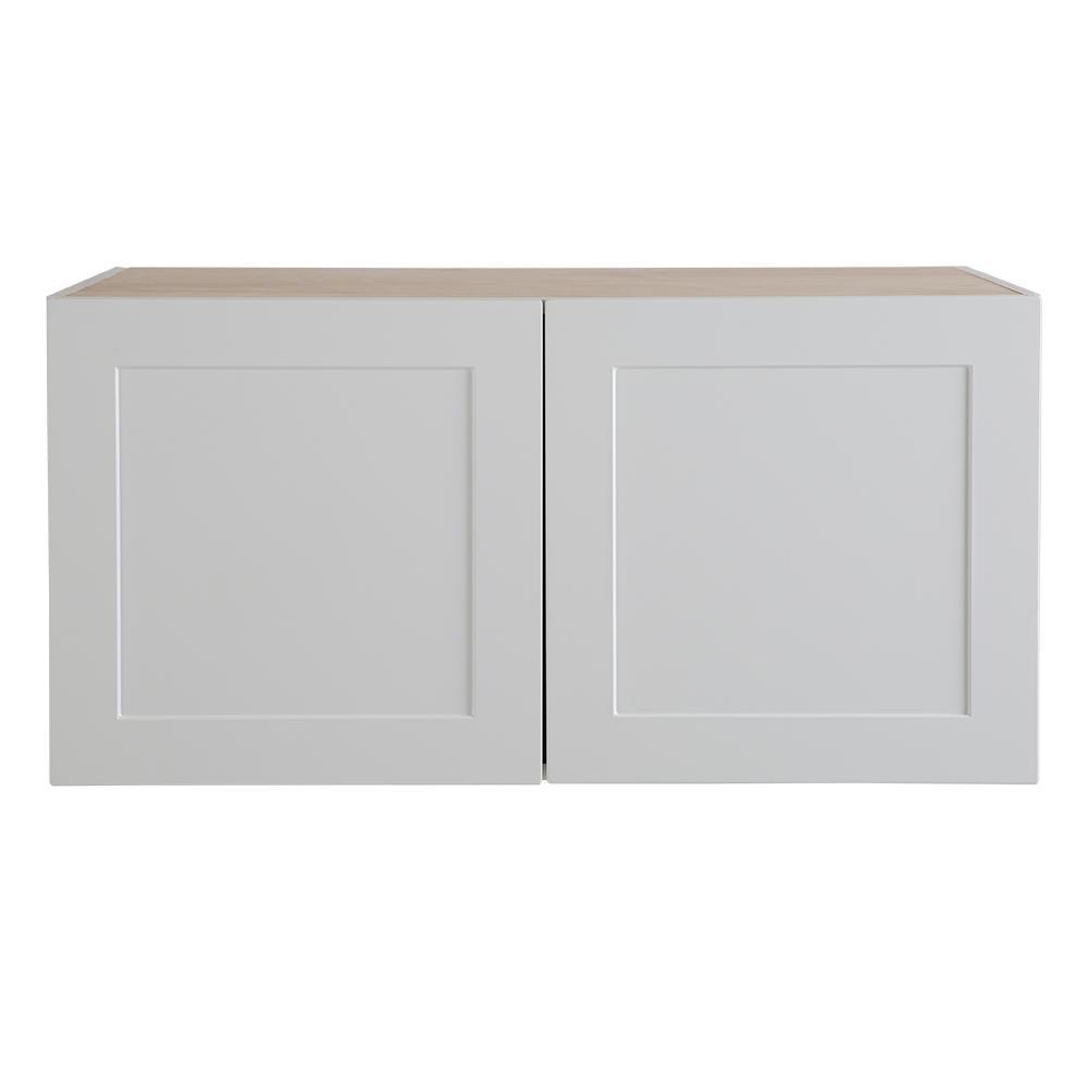Refrigerator Wall Cabinet: Hampton Bay Cambridge Assembled 36x18x24.5 In