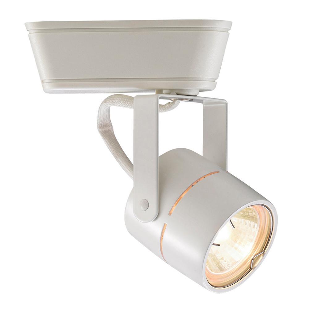 1-Light 75-Watt White Low Voltage Track Head for H Track