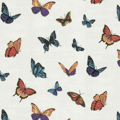 Animal print wallpaper decor the home depot for Flutterby wallpaper