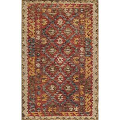 Tangier Red 3 ft. 6 in. x 5 ft. 6 in. Area Rug