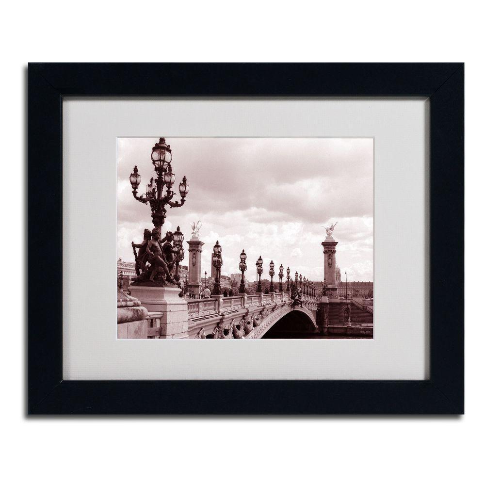 11 in. x 14 in. Pont Alexandre III Bridge Matted Framed