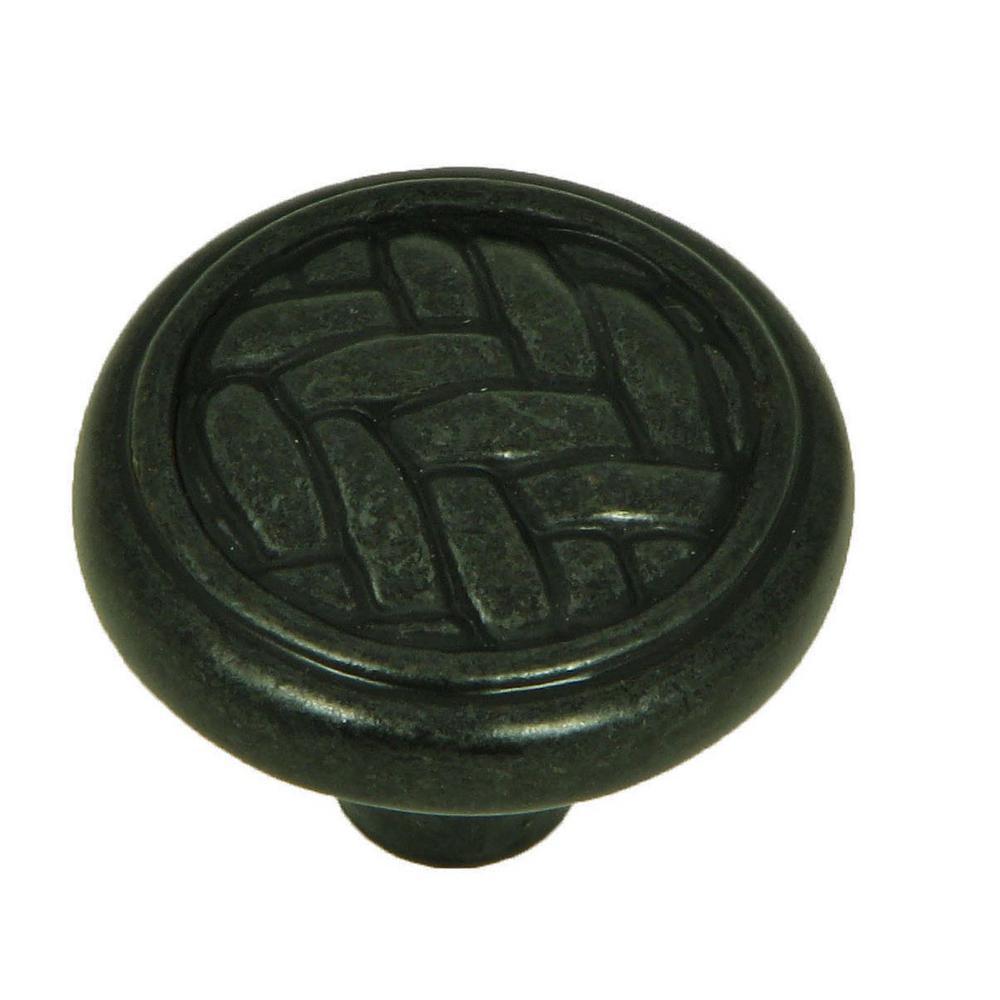 Harris 1-1/4 in. Antique Black Round Cabinet Knob
