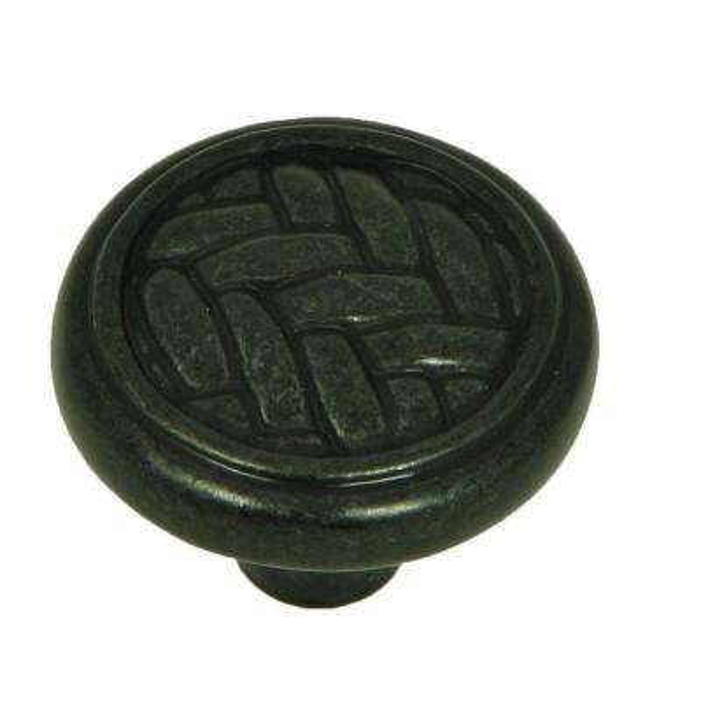 Harris 1-1/4 in. Antique Black Round Cabinet Knob (25-Pack)