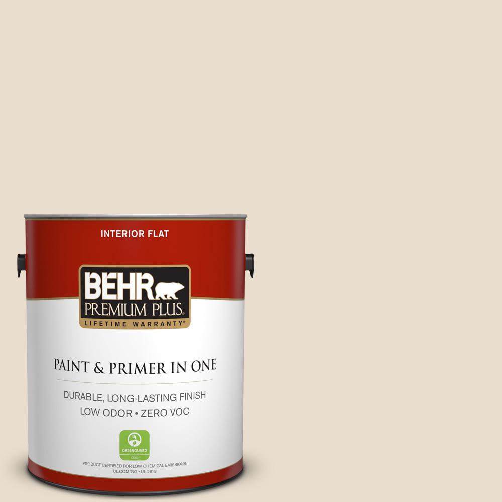 Good BEHR Premium Plus 1 Gal. #23 Antique White Flat Zero VOC Interior Paint And