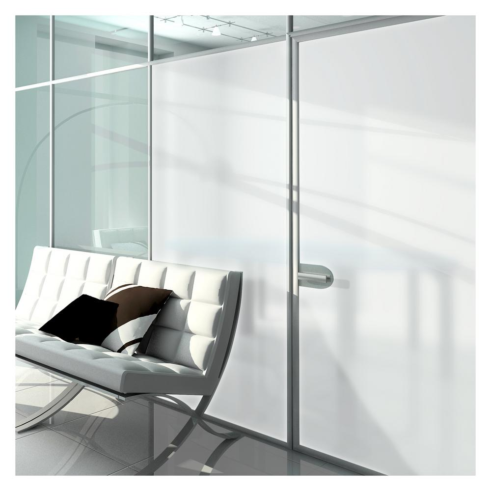 24 in. x 50 ft. MTWH White Frosted Privacy Window Film