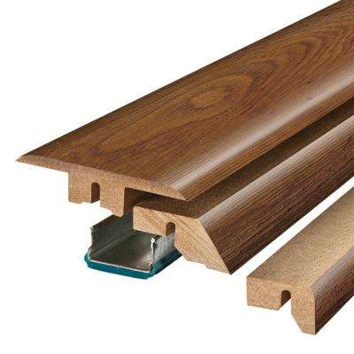 Cinnabar Oak 3/4 in. Thick x 2-1/8 in. Wide x 78-3/4 in. Length Laminate 4-in-1 Molding
