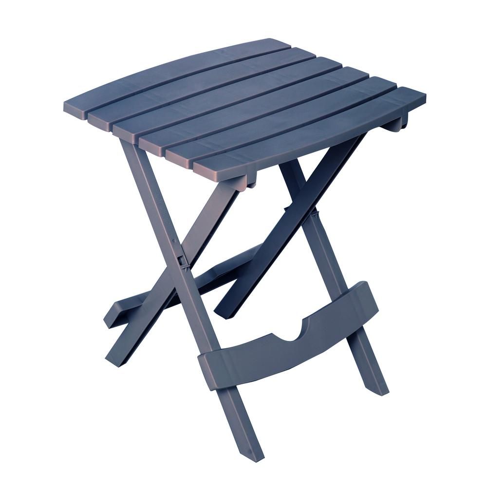 Delightful Quik Fold Bluestone Resin Outdoor Side Table