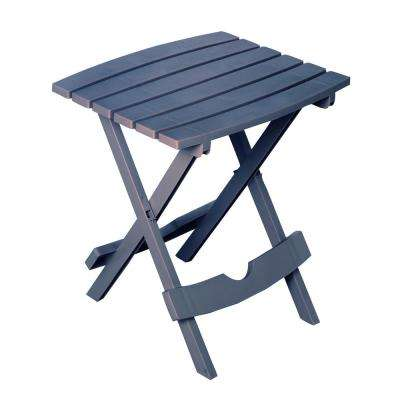 Quik-Fold Bluestone Resin Plastic Outdoor Side Table