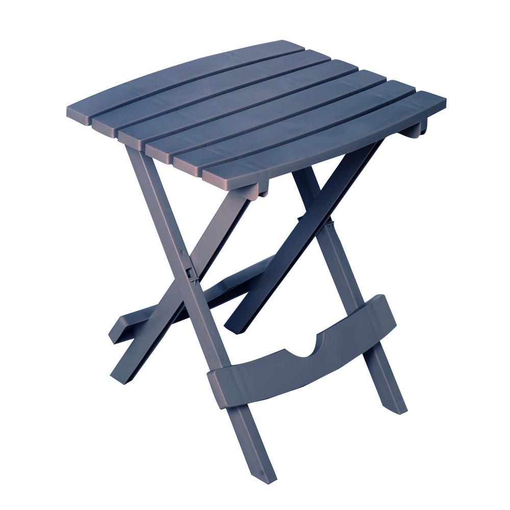 Quik-Fold Bluestone Resin Outdoor Side Table