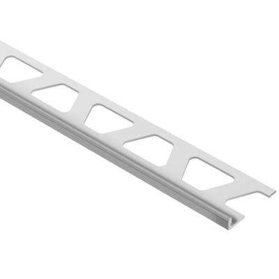 Jolly Grey Color-Coated Aluminum 1/8 in. x 8 ft. 2-1/2 in. Metal Tile Edging Trim