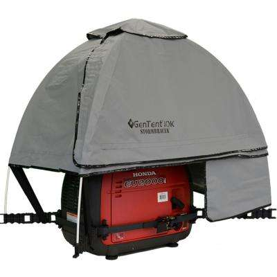 GenTent 10K Generator Tent Running Cover – XKI (Standard, Grey Skies) for 1K-9K Watt invertor Generators