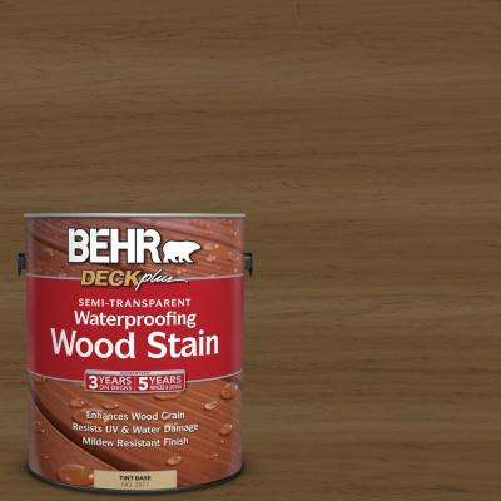 1 gal. #ST-109 Wrangler Brown Semi-Transparent Waterproofing Wood Stain