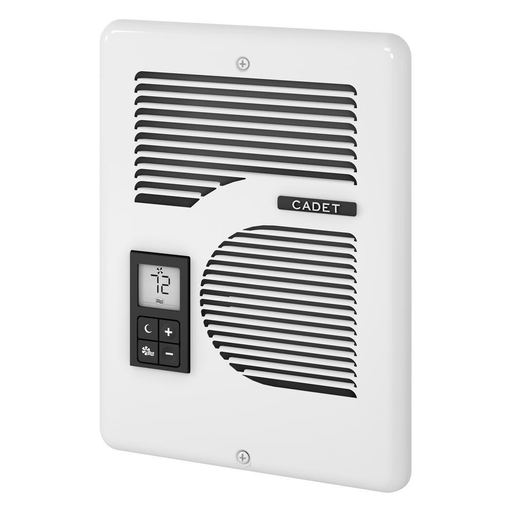 EnergyPlus 1600-Watt 120/240-Volt In-Wall Electric Wall Heater in White
