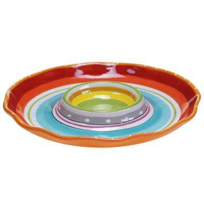 Mariachi Multi-Colored 13.5 in. Chip and Dip Server