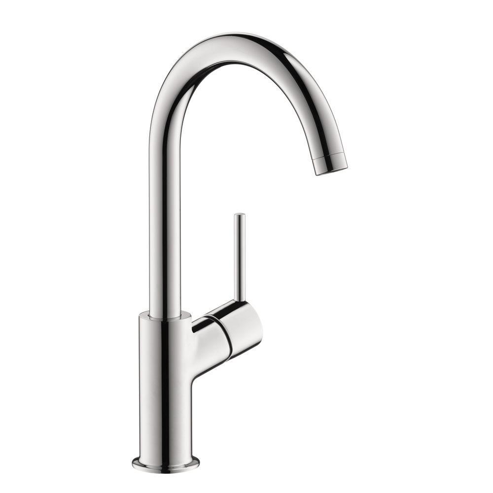 Talis S Single Hole Single-Handle Mid Arc Bathroom Faucet in Chrome