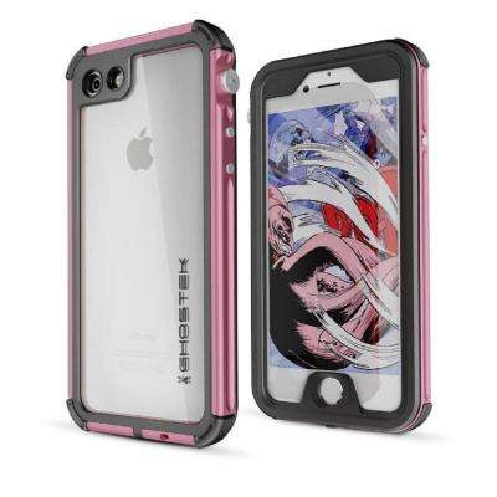 iPhone 7 Atomic 3 Waterproof Case, Pink