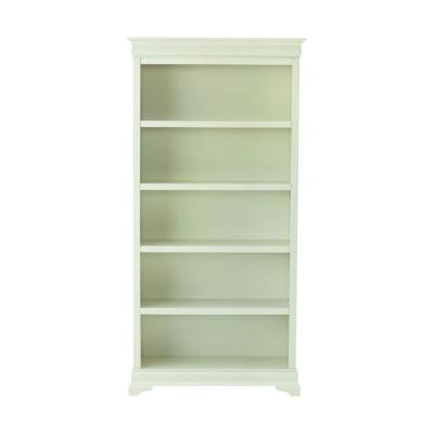 73 in. Polar White Wood 5-shelf Modular Bookcase with Adjustable Shelves