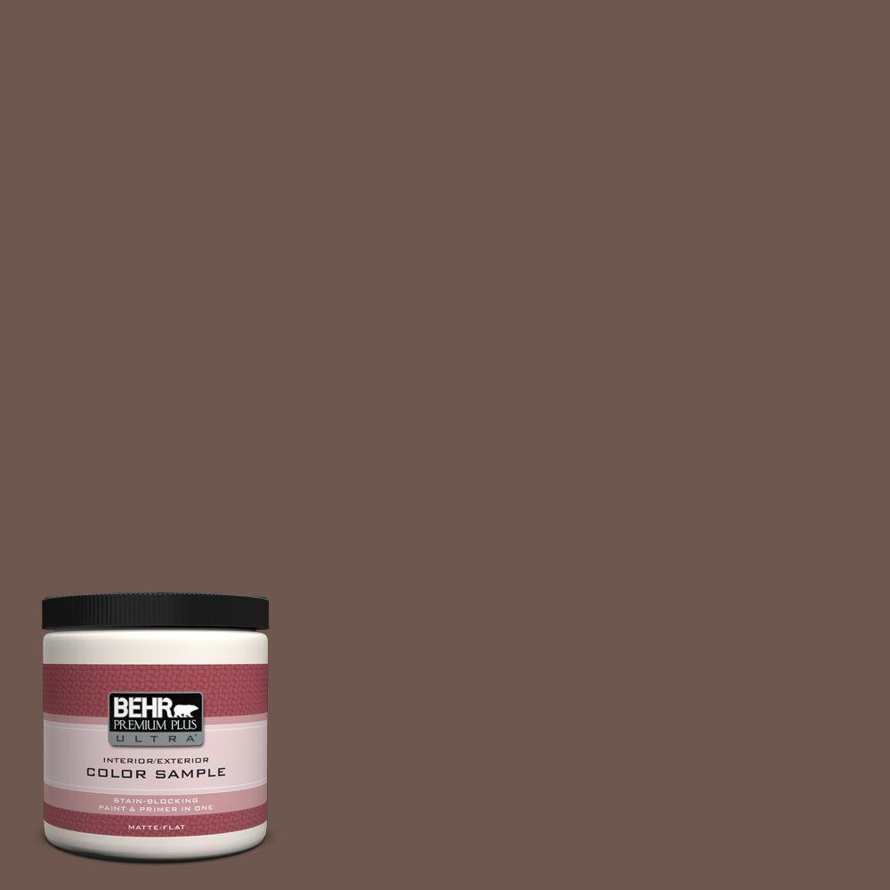 BEHR Premium Plus Ultra 8 oz. #N170-6 Natural Bark Interior/Exterior Paint Sample