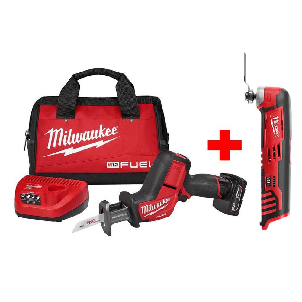 Milwaukee 2520-21XC M12 Fuel Hackzall Reciprocating Saw Kit Bundle