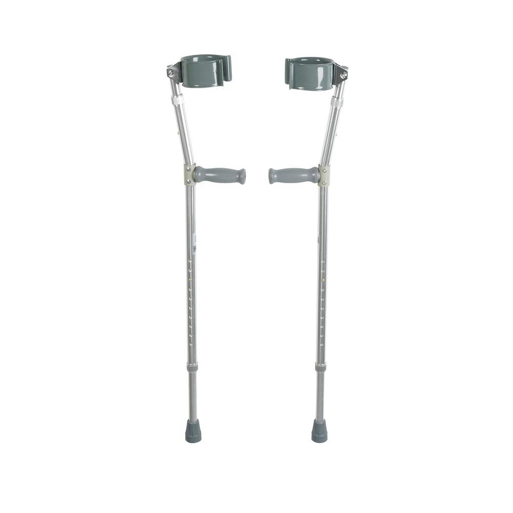 Drive Lightweight Walking Forearm Crutches, Adult, 5ft - 6ft 2in, 1 Pair, Brand
