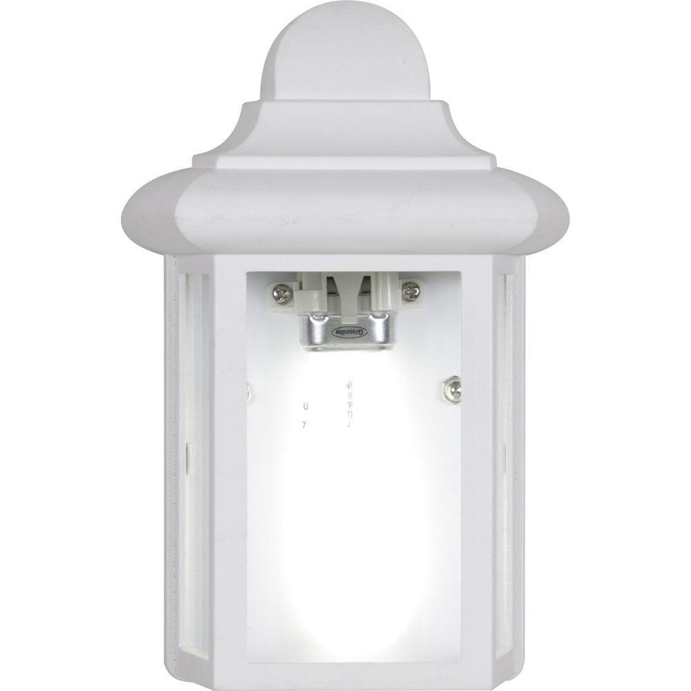Volume Lighting 1-Light White Exterior Wall Mount-V6730-6 - The Home ...