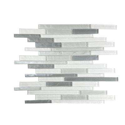 Geo Monte Sagro Gray Mix 11.75 in. x 15.25 in. x 7.87 mm Glass Mosaic Tile