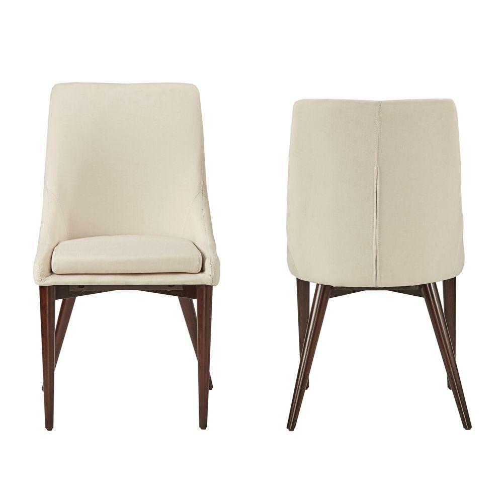 Nobleton White Linen Dining Chair (Set of 2)