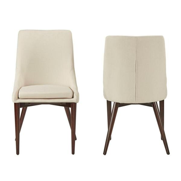 Nobleton White Linen Dining Chair (Set of 2)