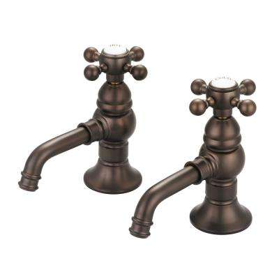 8 in. Widespread 2-Handle Basin Cocks Bathroom Faucet in Oil Rubbed Bronze