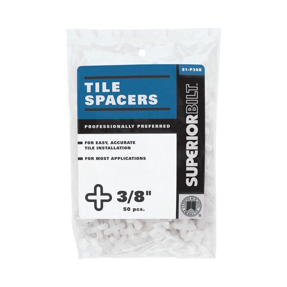 SuperiorBilt 3/8 in. Regular Tile Spacers (50 pack)