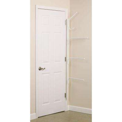 Clutterbuster White Valet Plus 5-Hook Rack