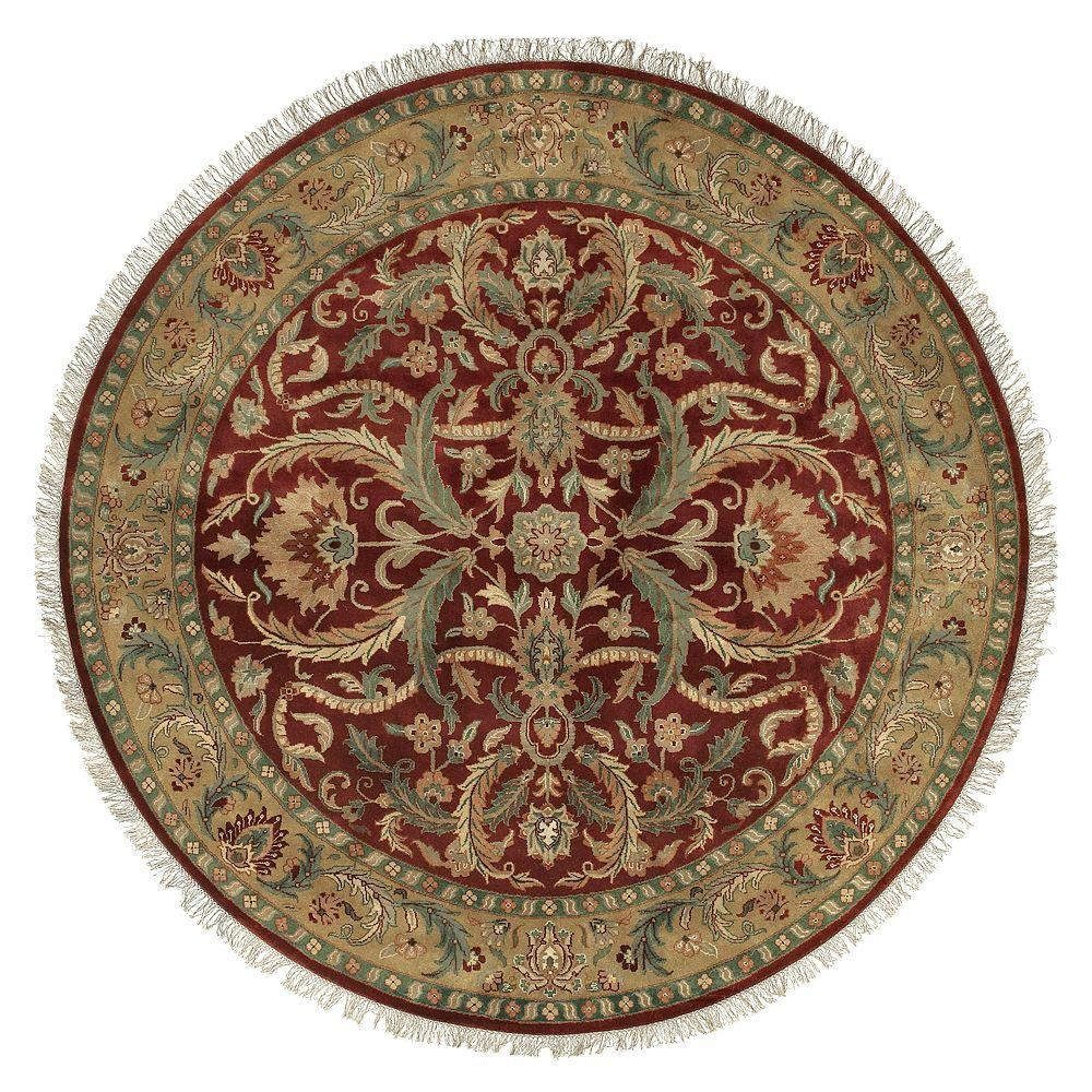 Alamut Burgundy 8 ft. Round Area Rug