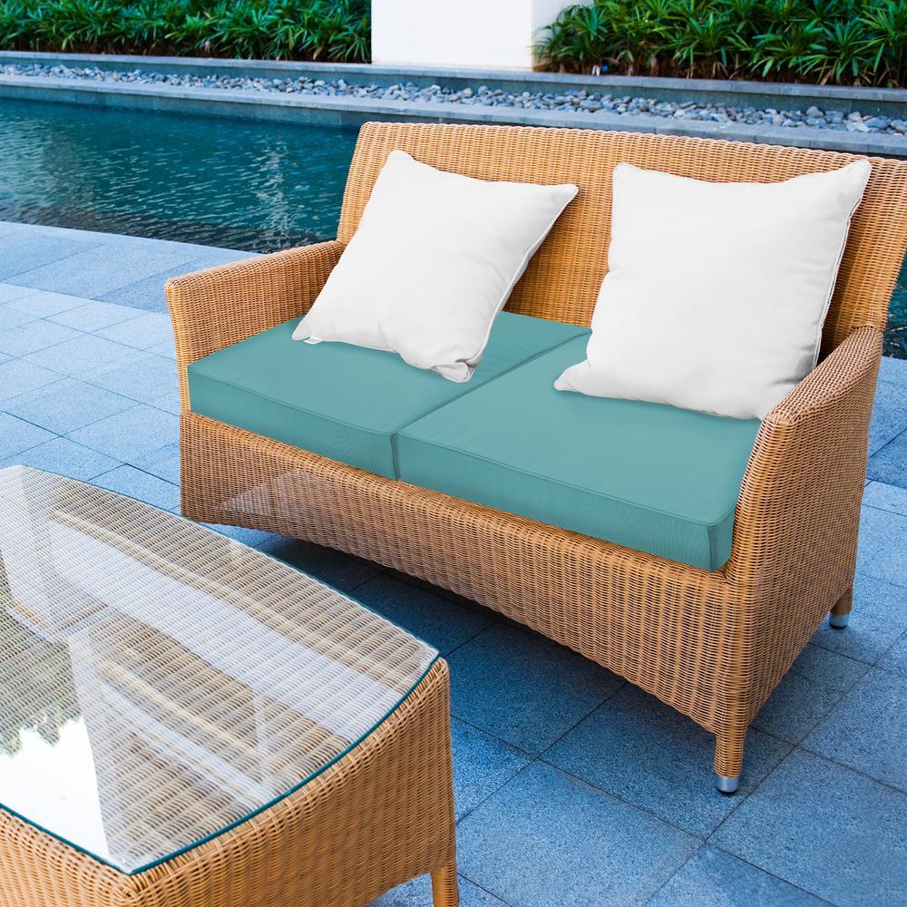Sensational Sensorpedic 24 In X 24 In Sunbrella Aruba Waterproof Memory Foam Outdoor Lounge Chair Cushion Ibusinesslaw Wood Chair Design Ideas Ibusinesslaworg