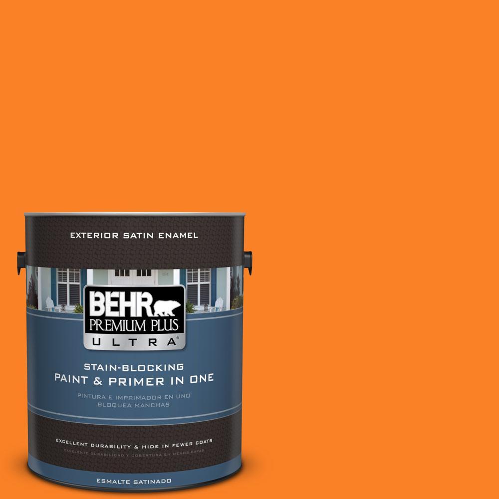 BEHR Premium Plus Ultra 1-gal. #S-G-270 Summer Citrus Satin Enamel Exterior Paint
