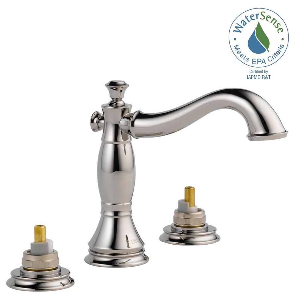 Cassidy 8 in. Widespread 2-Handle Bathroom Faucet with Metal Drain Assembly
