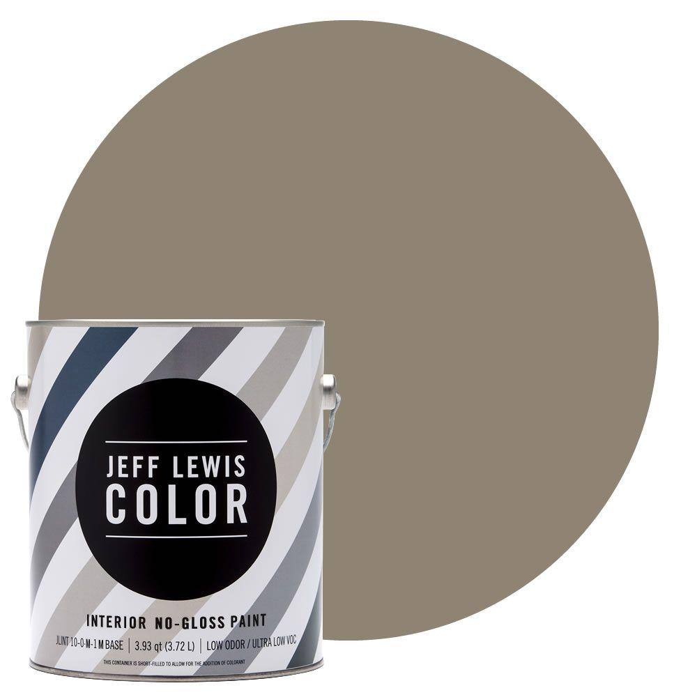 Jeff Lewis Color 1-gal. #JLC110 Clay No-Gloss Ultra-Low VOC Interior Paint