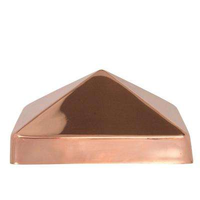 6 in. x 6 in. Copper Pyramid Slip Over Fence Post Cap