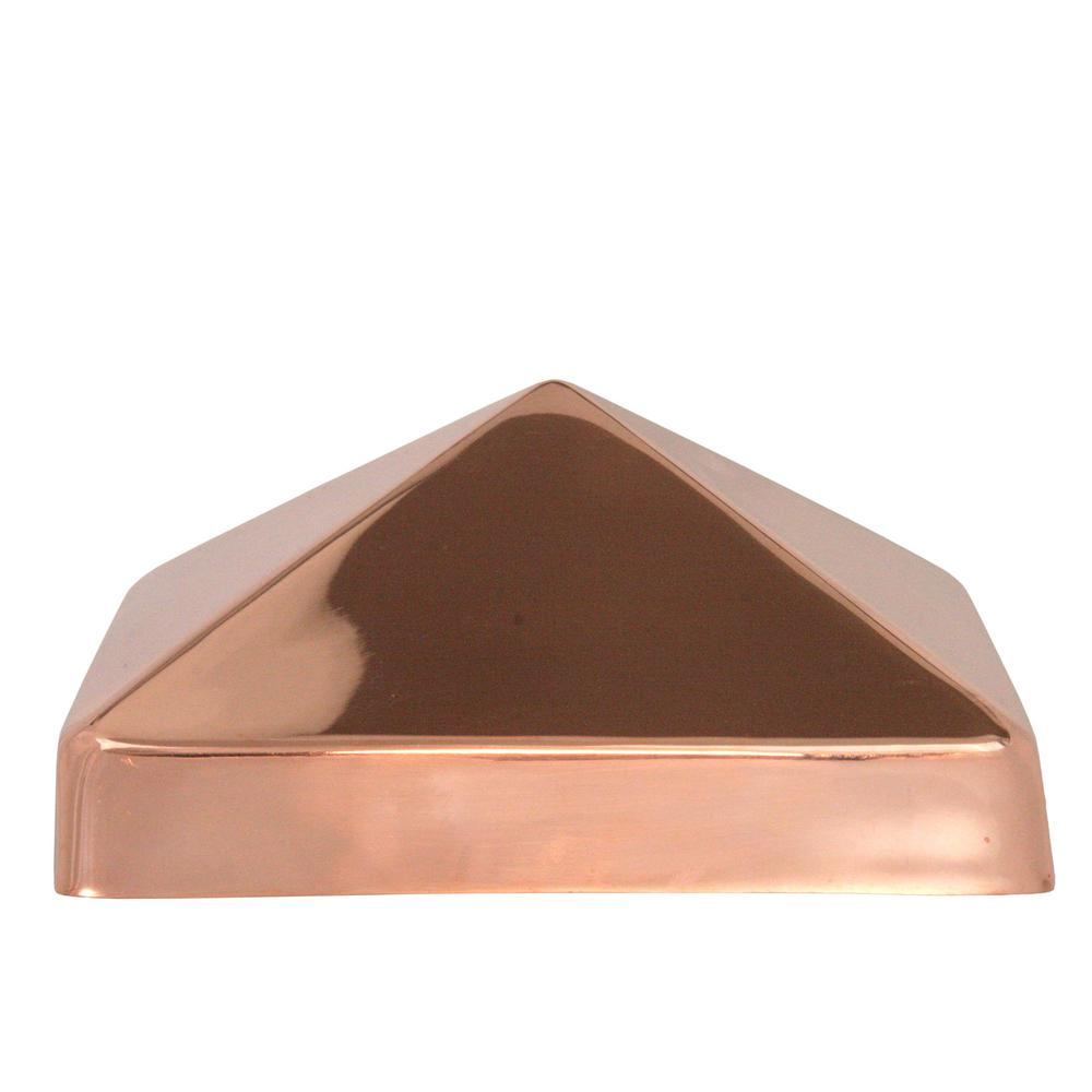 Protectyte 6 in. x 6 in. Copper Pyramid Slip Over Fence Post Cap