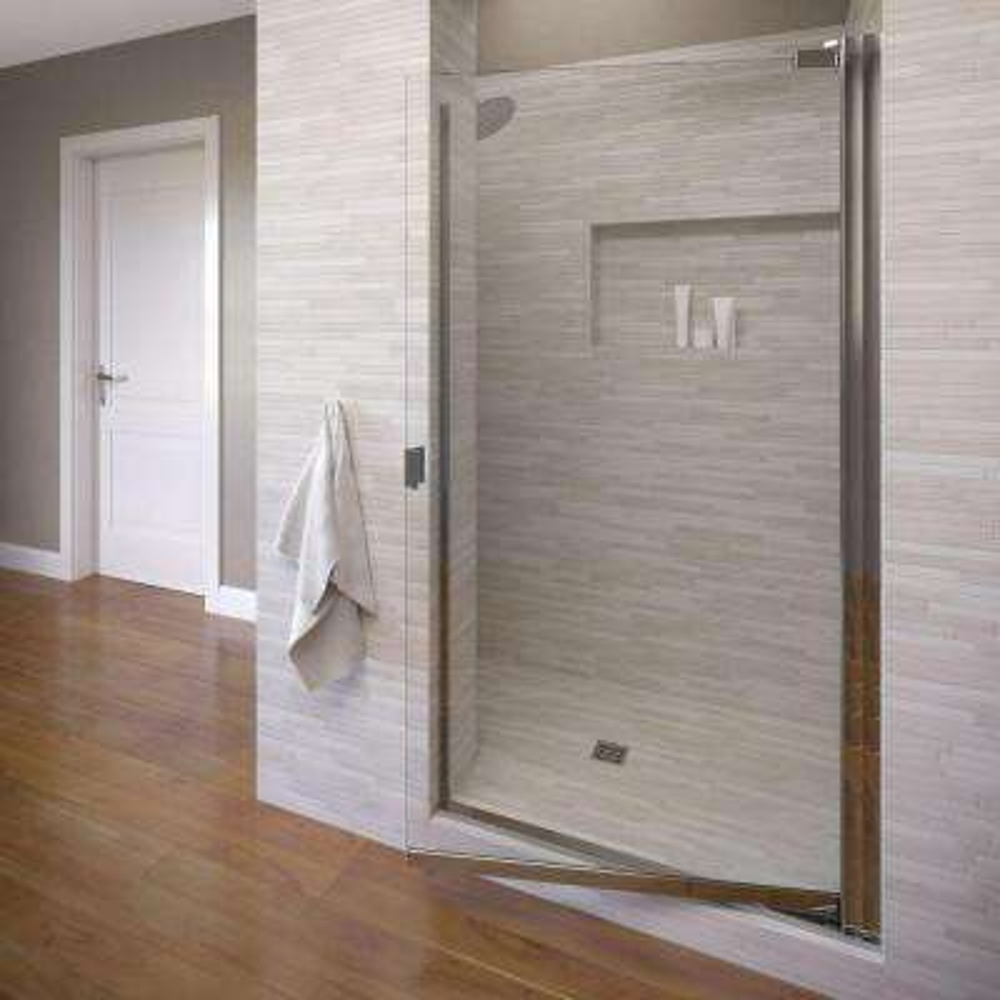 Classic 31-3/4 in. x 66 in. Semi-Frameless Pivot Shower Door in Silver