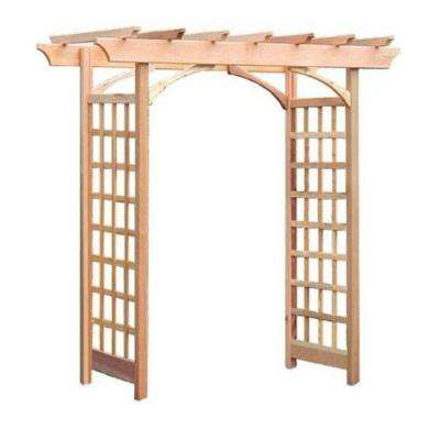 Berkeley 87 in. x 81 in. Outside Cedar Arbor