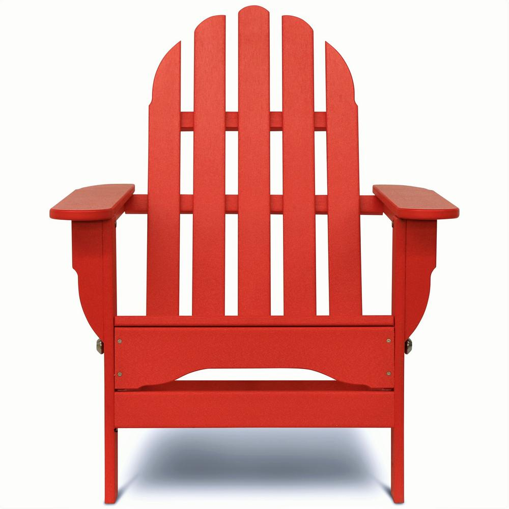 Pleasant Durogreen Icon Bright Red Plastic Folding Adirondack Chair Squirreltailoven Fun Painted Chair Ideas Images Squirreltailovenorg