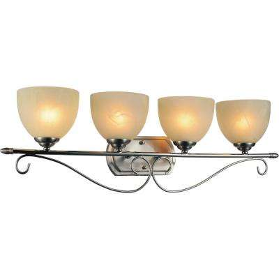 Selena 4-Light Satin Nickel Sconce