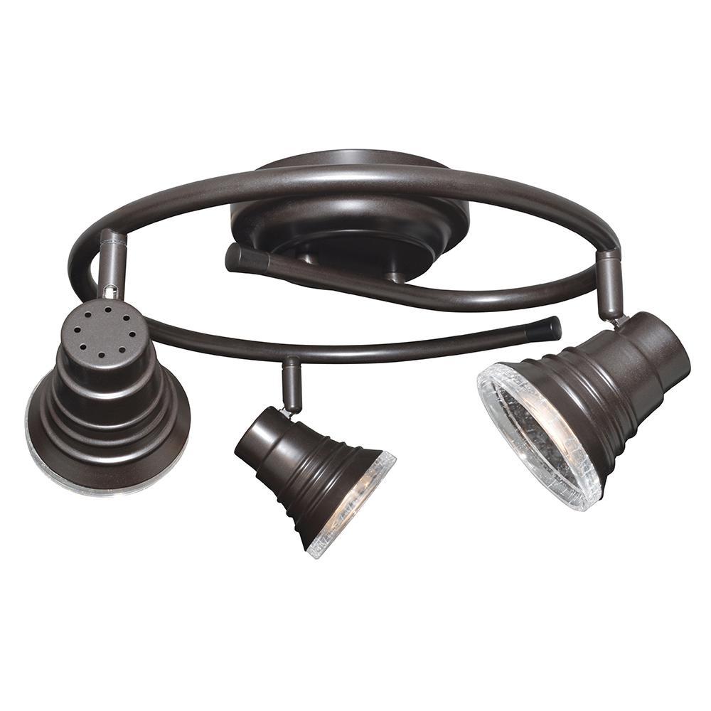 Mack 2 ft. Oil-Rubbed Bronze Integrated LED Fixed Track Lighting Kit