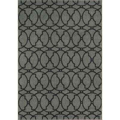 Baja Charcoal 5 ft. x 8 ft. Indoor/Outdoor Area Rug