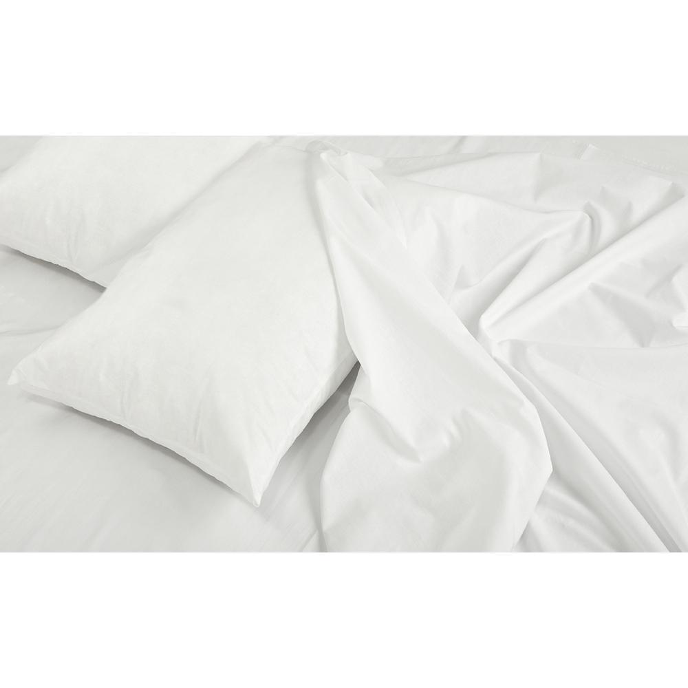 Jill Morgan Fashion 4-Piece Solid White Queen Sheet Set