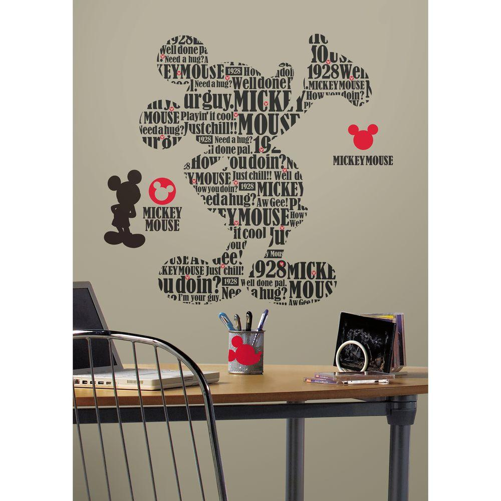 18 in. x 40 in. Mickey and Friends - Typography Mickey