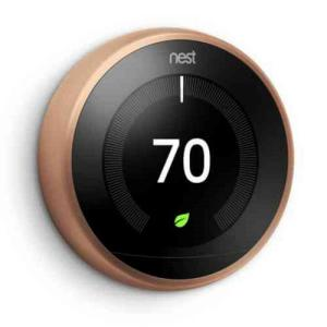 Nest 3rd Generation 7 Day Programmable Learning Wi-Fi Thermostat, Copper, (2 -... by Nest