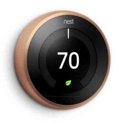 3rd Generation Learning Thermostat in Copper (2-Pack)