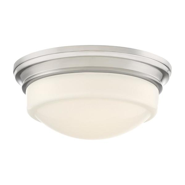 Stark 7.25 in. Brushed Nickel LED Flush Mount