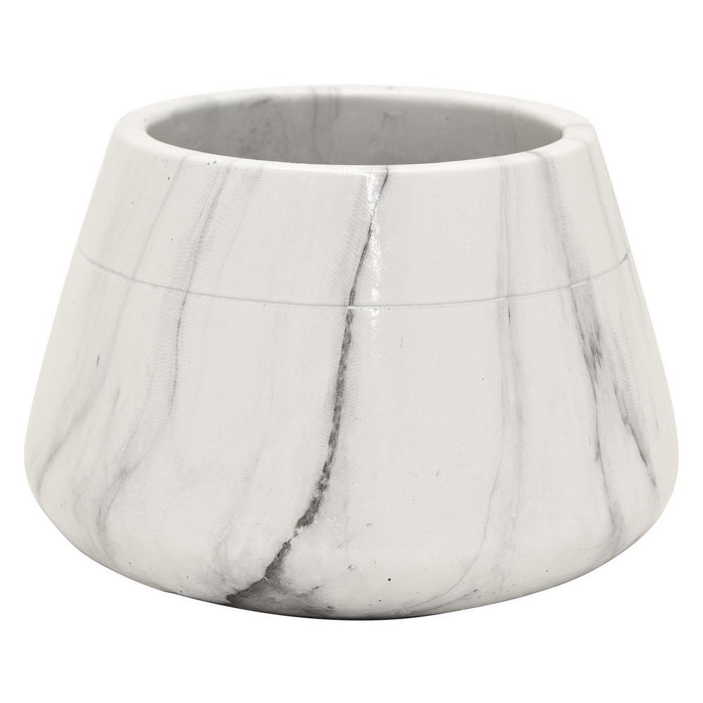 4.25 in. Marble Look Flower Pot